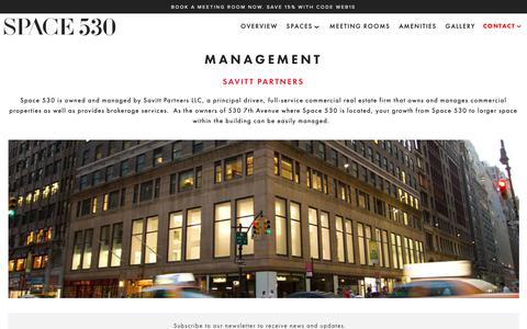 Screenshot of Team Page space530.com - SPACE 530's Management — Midtown Manhattan Co-Working & Creative Offices | SPACE 530 - captured Oct. 20, 2018