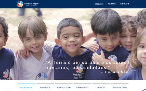Screenshot of Home Page escoladasnacoes.com.br - Escola Internacional em Brasília   Brazil   Escola Das Nações - captured Oct. 2, 2018