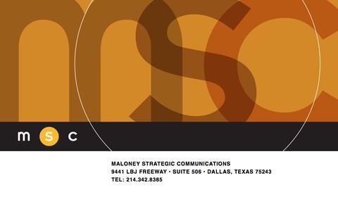 Screenshot of Home Page maloneystrategic.com - Maloney Strategic Communications - captured Oct. 4, 2017