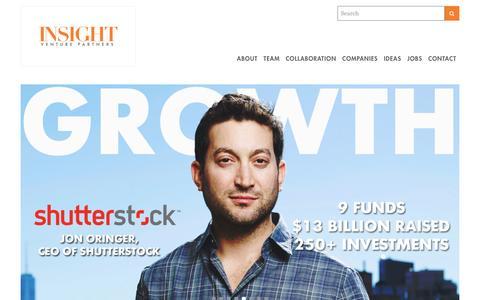 Screenshot of Home Page insightpartners.com - Insight Venture Partners - captured Jan. 14, 2017