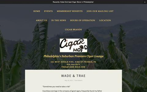 Screenshot of About Page cigar-mojo.com - About Us — Cigar Mojo - captured Sept. 29, 2014