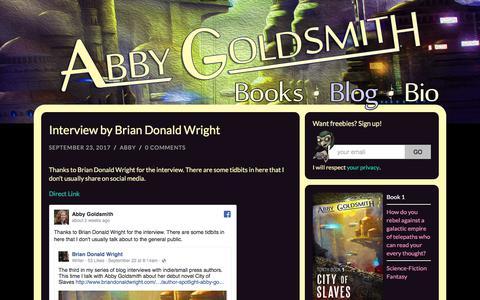 Screenshot of Blog abbygoldsmith.com - Blog - Abby Goldsmith - captured Oct. 7, 2017