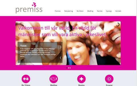 Screenshot of Home Page premiss.se - Start | Premiss - captured Oct. 3, 2014
