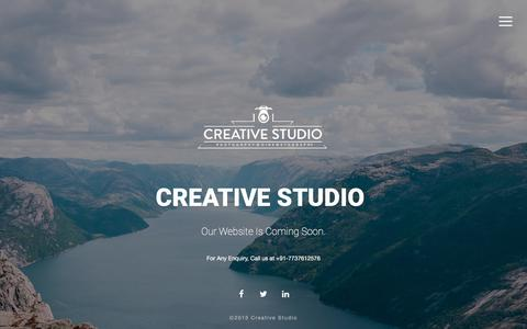 Screenshot of Home Page About Page Contact Page Services Page Menu Page creativestudio.in - Creativ Studio- Photography   TAttoo   Web Design - Coming-Soon Page - captured Sept. 11, 2017