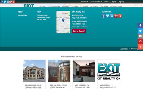 Screenshot of Signup Page Login Page exitrealtyone.com - Signup - captured July 15, 2018