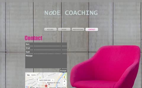 Screenshot of Contact Page node-coaching.ch - contact - captured Dec. 11, 2016