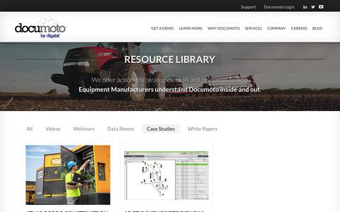 Screenshot of Case Studies Page digabit.com - Resources - Case Studies - Documoto Electronic Parts Catalog Software - captured Feb. 9, 2016