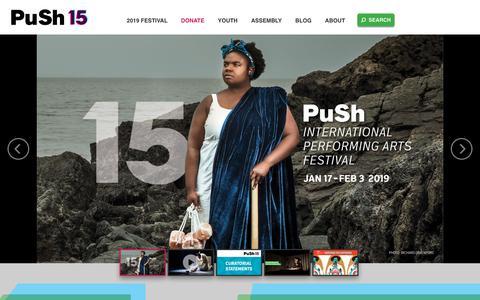 Screenshot of Home Page pushfestival.ca - PuSh International Performing Arts Festival   Vancouver, B.C. - captured Dec. 16, 2018