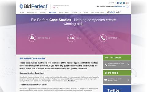 Screenshot of Case Studies Page bidperfect.co.uk - Bid Management & Tender Writing Case Studies   Bid Perfect - captured Jan. 2, 2016