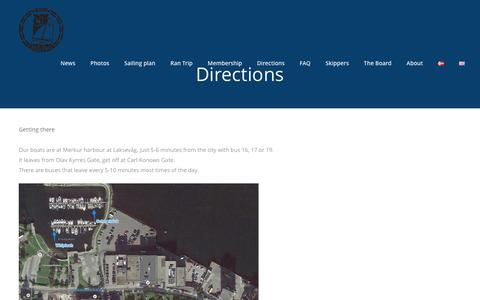 Screenshot of Maps & Directions Page bsiseiling.no - Directions - BSI Seiling - captured July 27, 2016