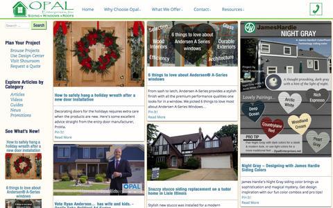 Screenshot of Blog opalenterprises.net - Home Improvement Articles, Guides, Design Tips, and Opal News - captured Dec. 6, 2016