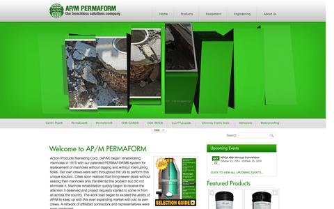 Screenshot of Home Page permaform.net - AP/M PERMAFORM - captured Oct. 4, 2014