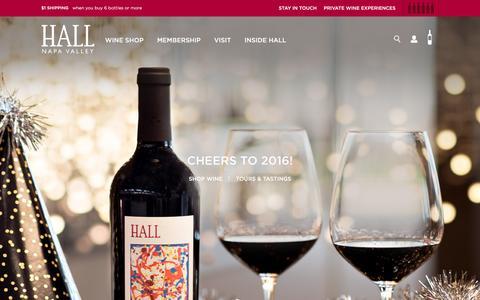 Screenshot of Home Page hallwines.com - Hall Wines - captured Feb. 2, 2016