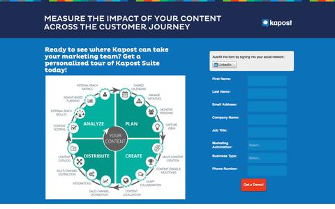 Request a Demo of the Kapost Content Marketing Platform