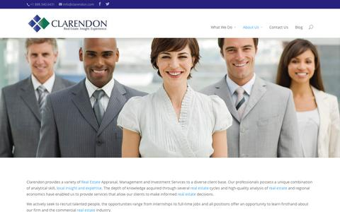 Screenshot of About Page Team Page clarendon.com - Our Team | Clarendon | Multi-Family | Appraisals | Market Studies | HUD Sec. 8 Rent Comp Study | Investments  |  Property Management - captured Oct. 27, 2014