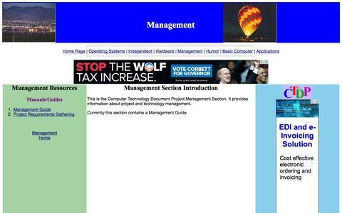 Screenshot of Team Page comptechdoc.org - Management - captured Nov. 4, 2014