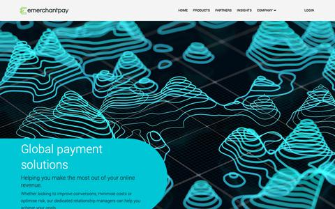 Screenshot of Products Page emerchantpay.com - Products | emerchantpay - captured Sept. 30, 2018