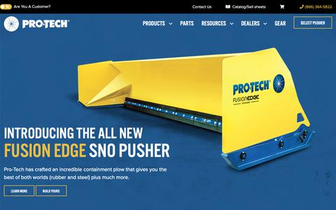 Screenshot of Home Page snopusher.com - Pro-Tech Sno Pusher - Snow Pushers, Snow Plows, and Containment Plows - captured Nov. 11, 2018