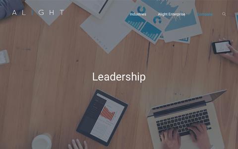 Screenshot of Team Page alightinc.com - Leadership Team - How to Drive Success - captured Nov. 20, 2016