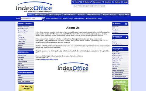 Screenshot of About Page indexoffice.co.uk - About Us - Office Supplies and Printer Ink Nottingham   Index Office - captured June 7, 2017