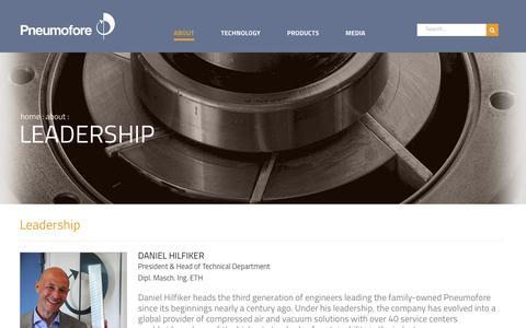 Screenshot of Team Page pneumofore.com - Leadership   Pneumofore - captured Dec. 8, 2018