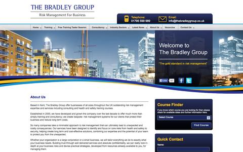 Screenshot of About Page thebradleygroup.co.uk - About The Bradley Group - Risk Training and Risk Management Consultancy - captured Oct. 9, 2014