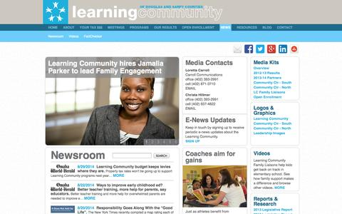 Screenshot of Press Page learningcommunityds.org - Learning Community of Douglas and Sarpy Counties | News - captured Oct. 2, 2014
