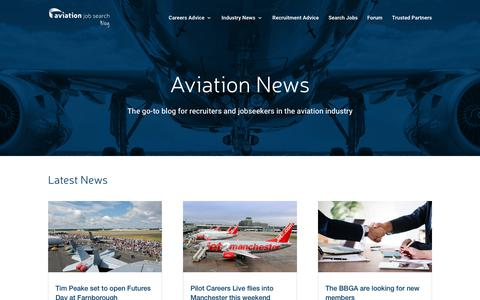 Screenshot of Blog Press Page aviationjobsearch.com - News & careers advice for the aviation community - captured July 8, 2018