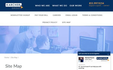 Screenshot of Site Map Page tkg.com - TKG Site Map | Online Marketing in Canton & Akron, Ohio - captured March 13, 2017