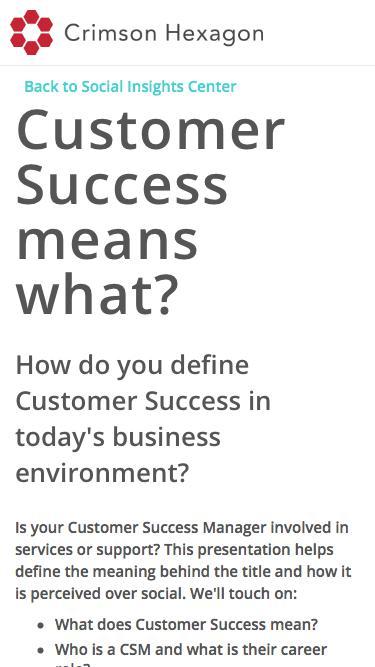Customer success on social media | Perception of customer success