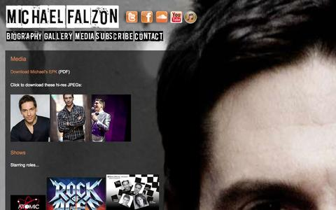 Screenshot of Press Page michaelfalzon.com - Media | Michael Falzon - captured Oct. 1, 2014