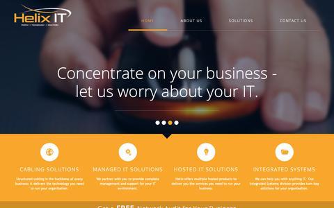 Screenshot of Home Page helixit.ca - Helix IT Inc   Full Service IT MSP - captured Dec. 14, 2018