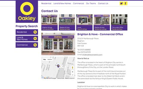 Screenshot of Contact Page oakleyproperty.com - Contact Us – Oakley Property - captured Feb. 13, 2016