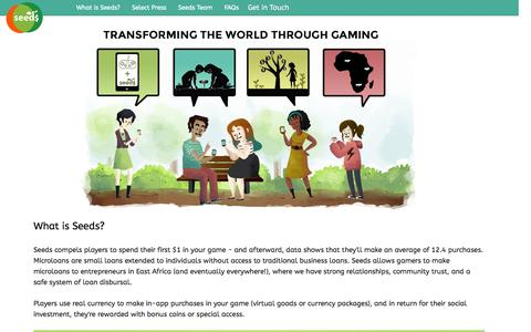 Screenshot of Developers Page playseeds.com - Seeds - captured Oct. 27, 2014