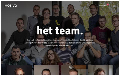 Screenshot of Team Page motivo.nl - Team - Motivo - captured Nov. 18, 2018
