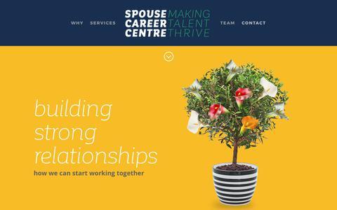 Screenshot of Contact Page spousecareercentre.com - Spouse Career Centre | CONTACT - captured June 15, 2017