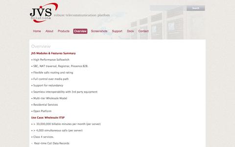 Screenshot of Services Page joodvs.com - Solution Overview - JVS Class4/5 VoipSwitch JVS Carrier Grade Softswitch for VoIP Carriers - captured Oct. 6, 2014