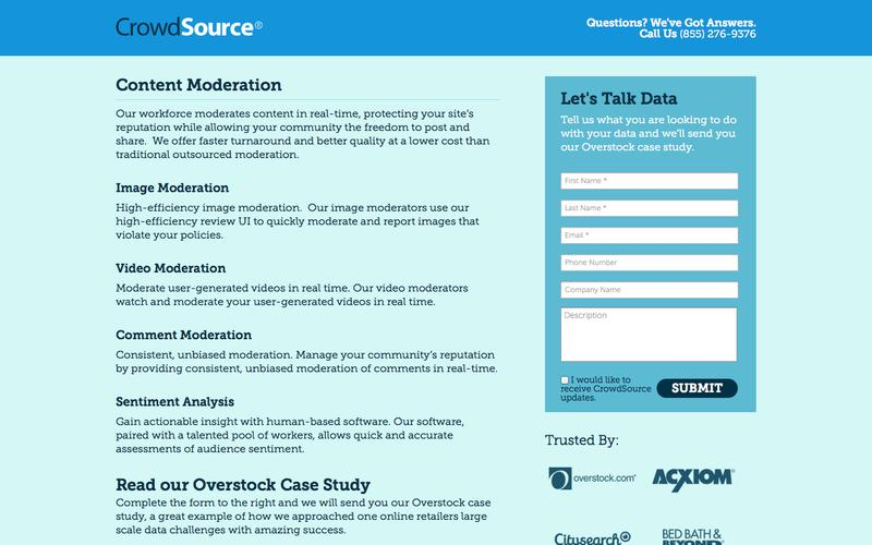 Data Solutions At Scale | CrowdSource