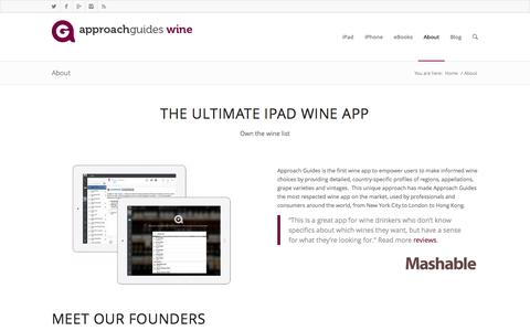 Screenshot of About Page approachguides.com - About - Approach Guides Wine - captured Sept. 22, 2014