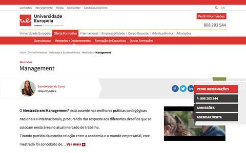 Screenshot of Team Page europeia.pt - Management - captured June 27, 2017