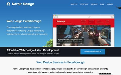 Screenshot of Home Page narhir.com - Web Design Peterborough | Web Development & Design in Peterborough, Stamford, Kettering | UK Narhir Design - captured Feb. 17, 2016