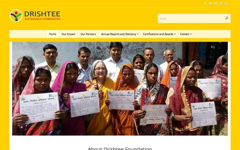 Screenshot of Home Page drishteefoundation.org - Drishtee Foundation - captured Aug. 8, 2018