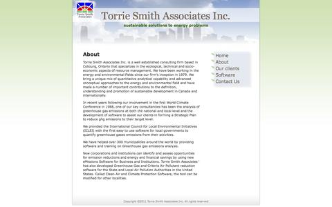 Screenshot of About Page torriesmith.com - About «  Torrie Smith Associates Inc. - captured Oct. 7, 2014