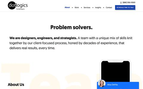Screenshot of About Page dotlogics.com - About Dotlogics - The best website designing company in New York - captured July 6, 2019