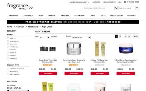 Night Cream | Fragrance Direct