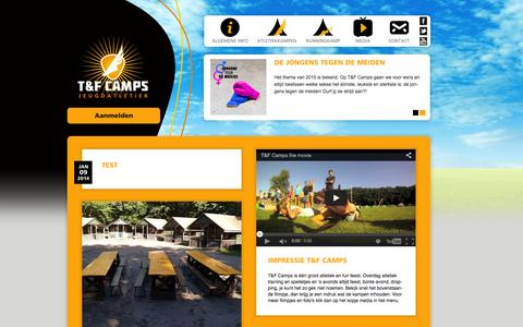 Screenshot of Press Page tfcamps.nl - Media | T&F Camps - captured Aug. 12, 2015