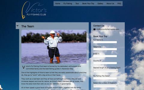 Screenshot of Team Page victorsflyfishingclub.com - The Team | Victor's Fly Fishing Club - captured Oct. 7, 2014