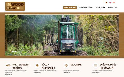 Screenshot of Home Page harswood.hu - Harswood Kft   fa kitermelés, feldolgozás és értékesítés - captured Sept. 20, 2015