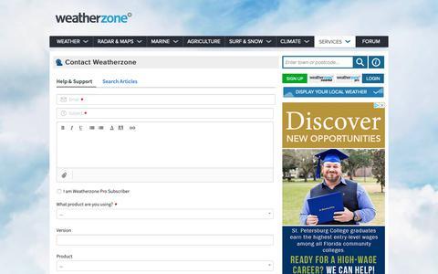 Screenshot of Contact Page weatherzone.com.au - Weather - Australia 7 day forecasts and weather radar - Weatherzone - captured May 17, 2019