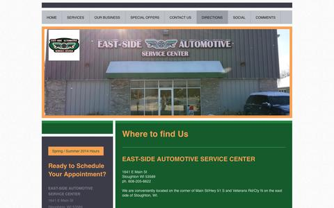 Screenshot of Maps & Directions Page east-sideautomotive.com - Directions to East-Side Automotive - captured Nov. 1, 2014